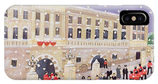 Snow At Buckingham Palace IPhone Case