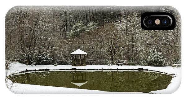 Snow At The Pond IPhone Case
