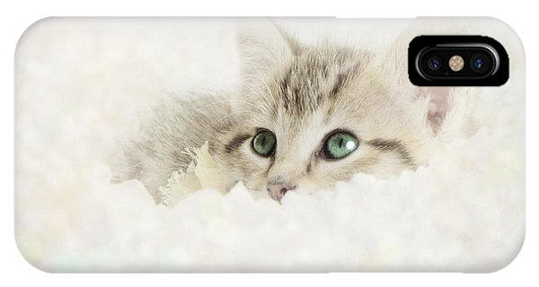 Baby Blue iPhone Case - Snow Baby by Amy Tyler