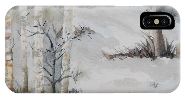 Snow Birches IPhone Case