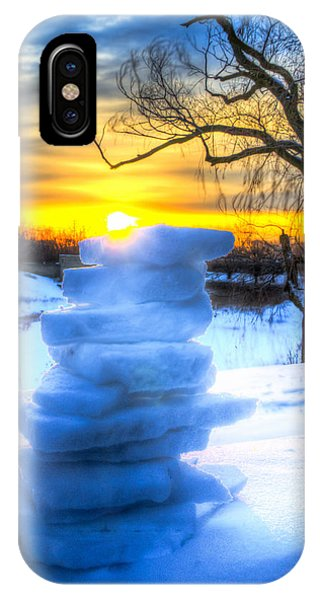 Snow Candle - Sunrise North Of Chicago 1-8-14 002  Phone Case by Michael  Bennett