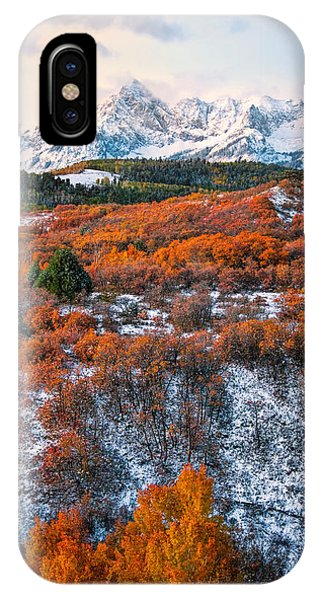Snow Covered Autumn IPhone Case