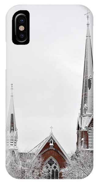 Snow Covered Church IPhone Case