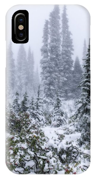 Snow Covered Mountain Ash IPhone Case