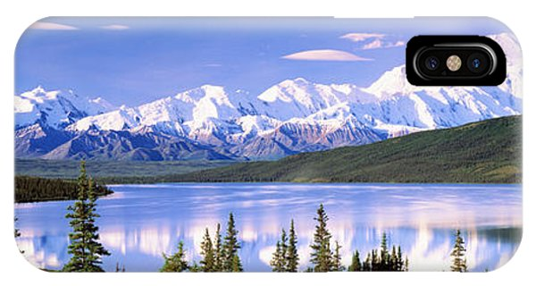 Snow Covered Mountains, Mountain Range IPhone Case