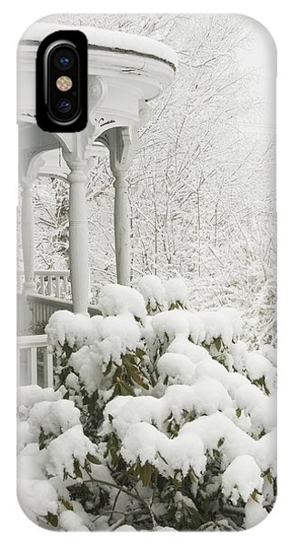 Snow Covered Porch IPhone Case