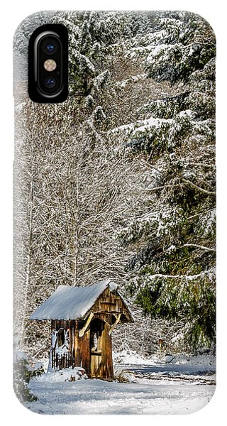 Snow Covered Rustic Shack IPhone Case