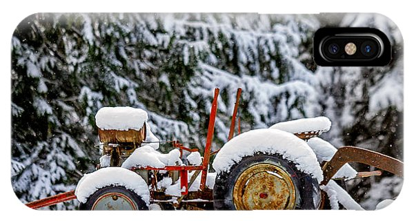 Snow Covered Tractor IPhone Case