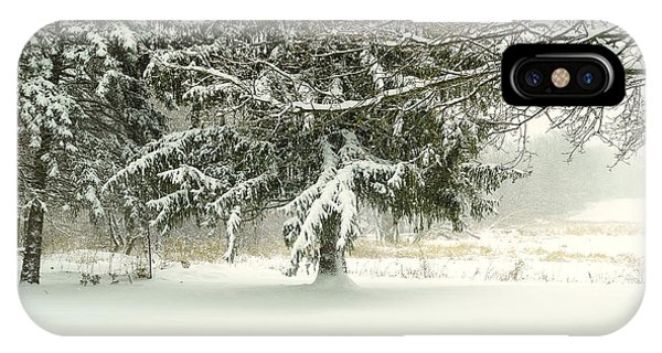 Snow-covered Trees IPhone Case