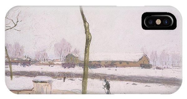 Barren iPhone Case - Snow Effect Effet De Neige Pastel On Paper C. 1880-1885 by Alfred Sisley