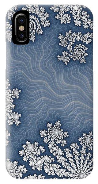 Fractal Landscape iPhone Case - Snow Flurries  by Heidi Smith