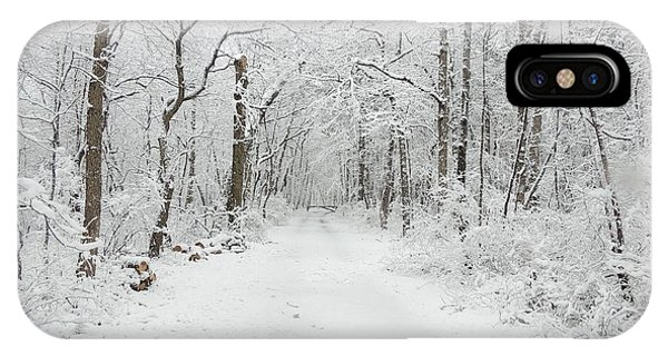 Snow In The Park IPhone Case