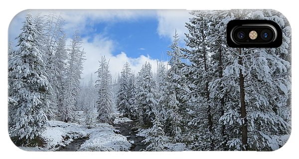 Snow In Yellowstone Phone Case by Diane Mitchell