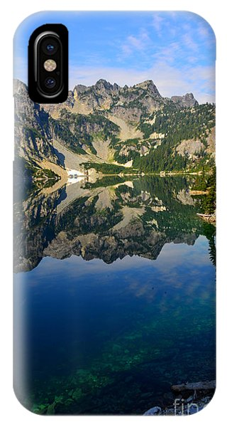 Snow Lake Reflections IPhone Case