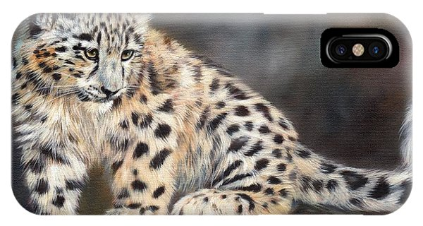 Snow Leopard Cub IPhone Case