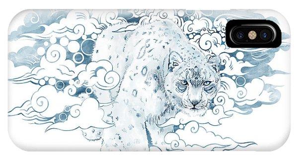 Snow Leopard iPhone Case - Ghost Cat by Sassan Filsoof