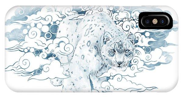Leopard iPhone Case - Ghost Cat by Sassan Filsoof