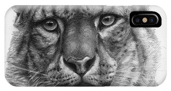 Snow Leopard - Panthera Uncia Portrait Phone Case by Svetlana Ledneva-Schukina