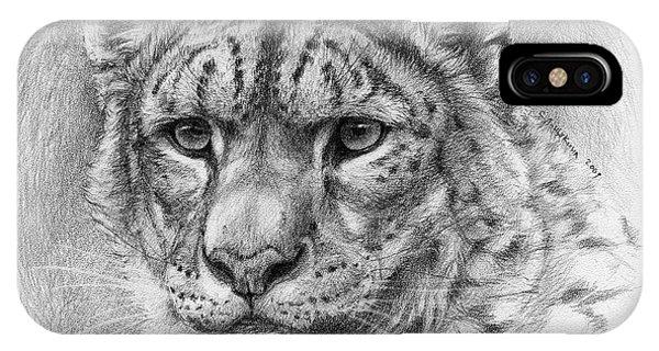 Snow Leopard - Panthera Uncia Phone Case by Svetlana Ledneva-Schukina