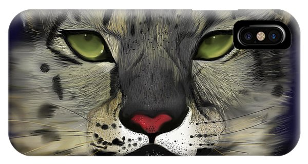 Snow Leopard - The Eyes Have It IPhone Case