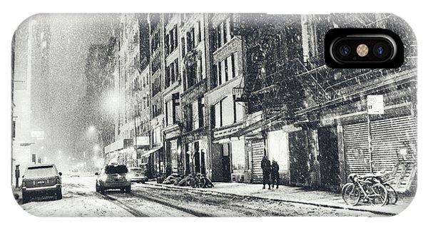 Snow - New York City - Winter Night IPhone Case