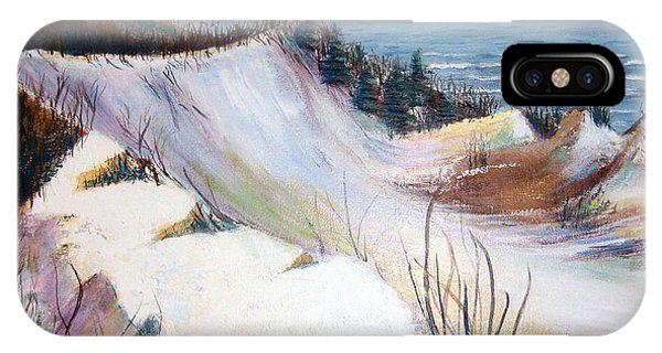 Snow On The Dunes IPhone Case