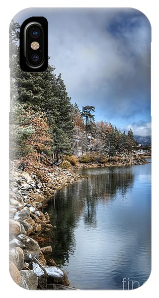 Snow On The Lake IPhone Case