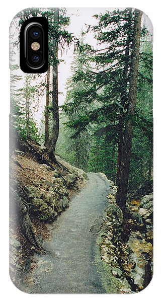 Snow On The North Rim Trail IPhone Case