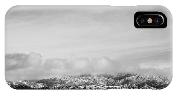 Snow On The Tehachapis IPhone Case