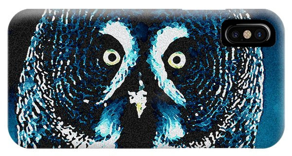 IPhone Case featuring the painting Snow Owl by Colette V Hera  Guggenheim