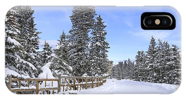 Banff iPhone Case - Snow Path by Evelina Kremsdorf