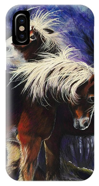 Snow Ponies IPhone Case