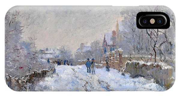 Snow Scene At Argenteuil IPhone Case