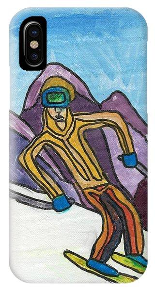 Snow Skier IPhone Case
