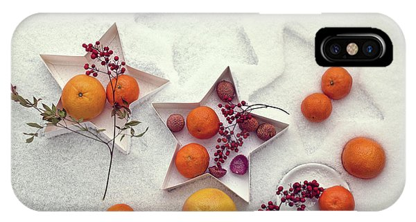 Grapefruit iPhone Case - Snow Still Life by Dimitar Lazarov -