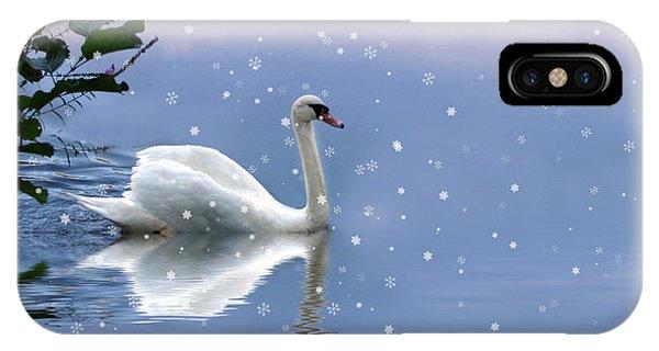Swan iPhone Case - Snow Swan II by Jessica Jenney