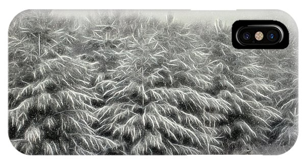 Snow Trees And Fox Textured IPhone Case