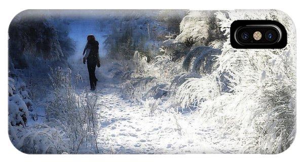Snow Walking 2 IPhone Case