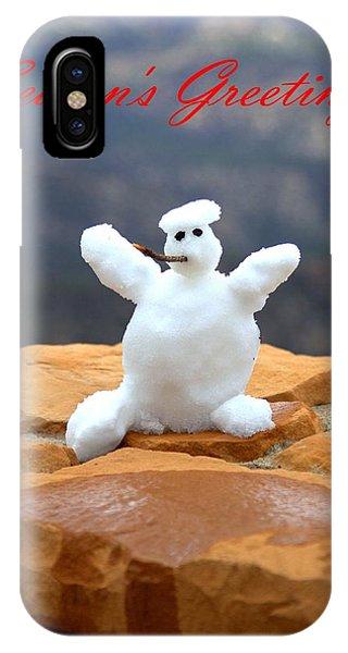 Snowball Snowman IPhone Case