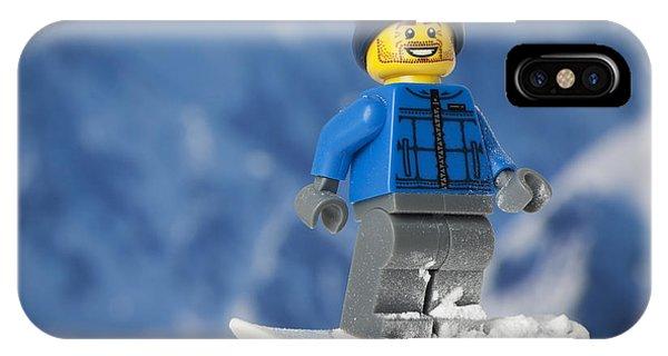 Snowy iPhone Case - Snowboarding by Samuel Whitton