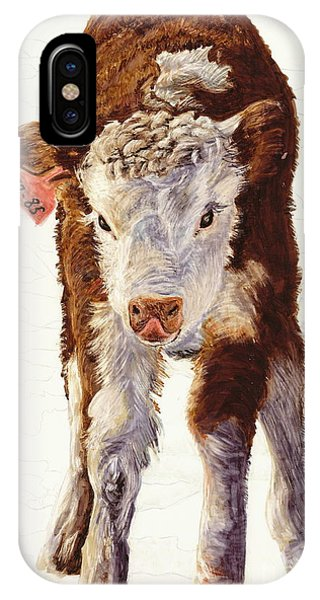 Country Life Winter Baby Calf IPhone Case