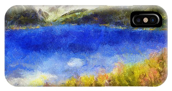 Snowcapped Blue Lake IPhone Case