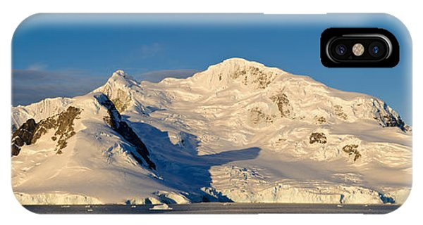 Glacier Bay iPhone Case - Snowcapped Mountain, Andvord Bay by Panoramic Images
