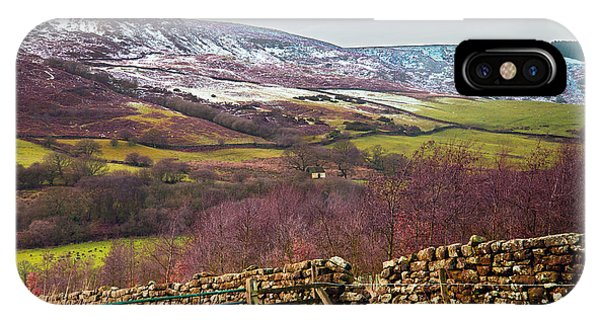 Snowcapped North Yorkshire Moors IPhone Case