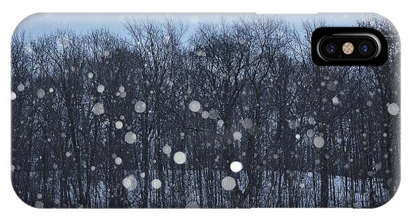 Snowfall Treeline IPhone Case