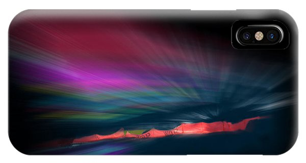 Snowfence Borealis IPhone Case