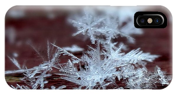 Snowflake Crystals IPhone Case