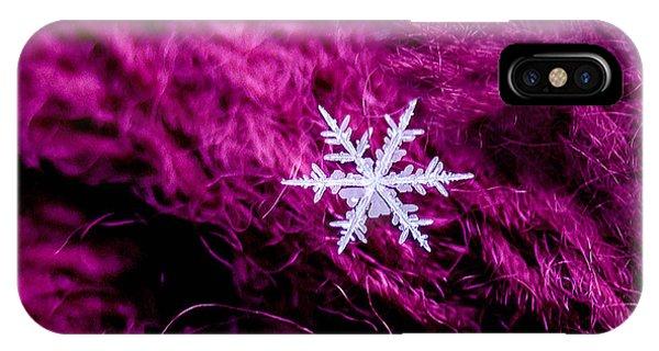 Snowflake On Magenta IPhone Case