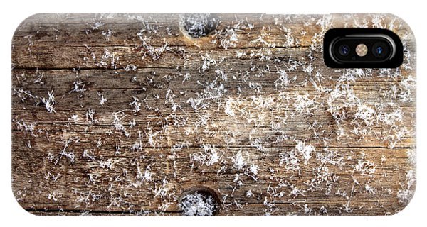 Snowflakes On Wood IPhone Case