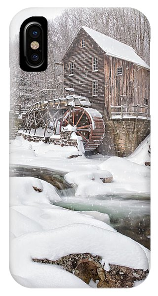 Snowglade Creek Grist Mill IPhone Case